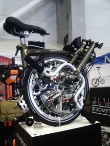 Brompton bicikli összecsukva