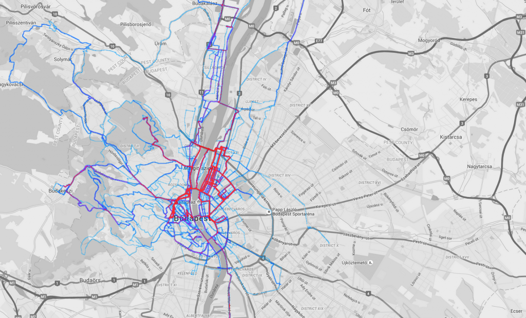 cycling heatmap 2015 BP