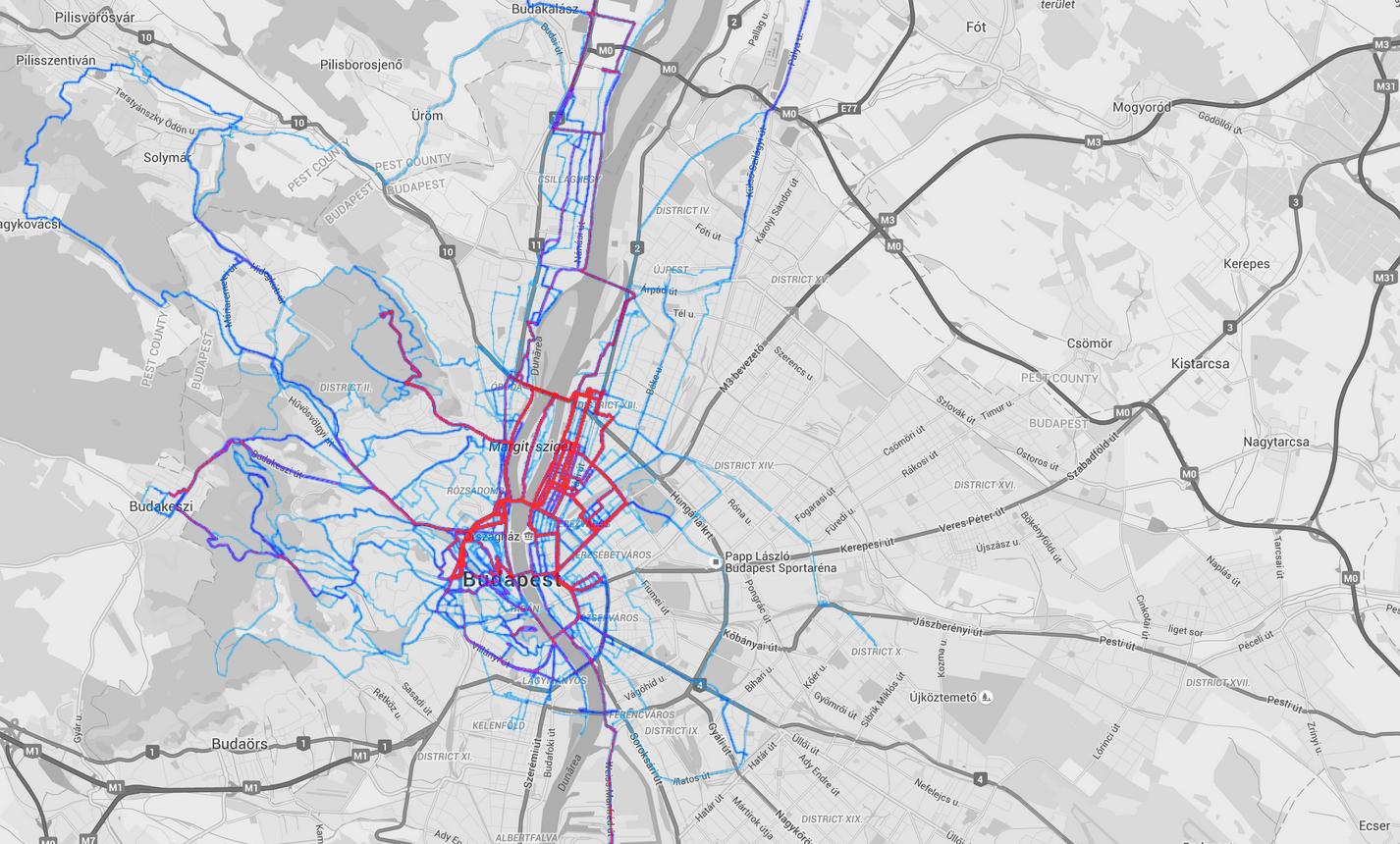 cycling heatmap 2015 BP