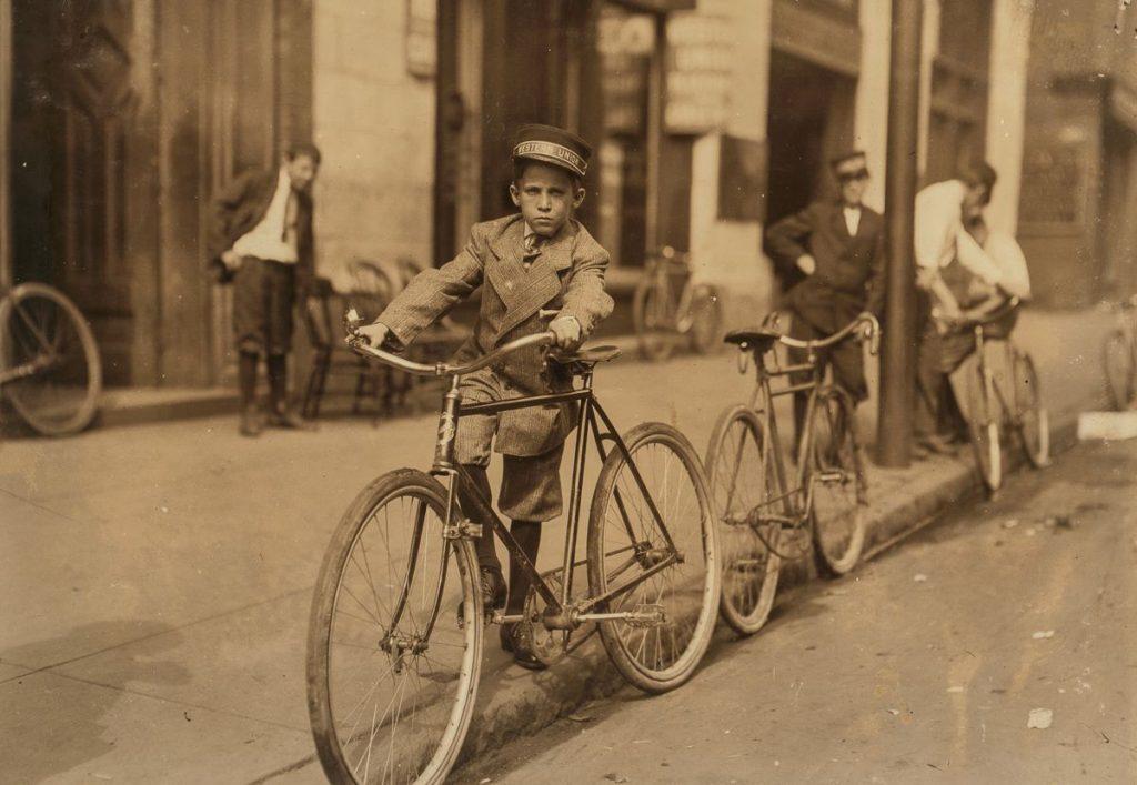 biciklis futár régen 2