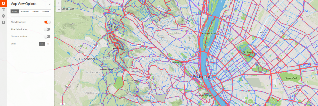 Strava Route builder heatmap