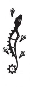 biciklis tetoválás gekkó