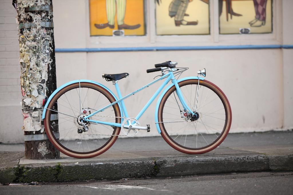 babakék városi bicikli