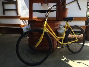 Sárga Csepel kerékpár